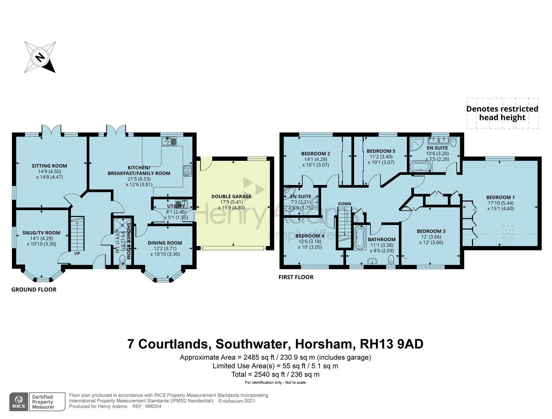Courtlands, Southwater, Horsham, RH13 floorplans