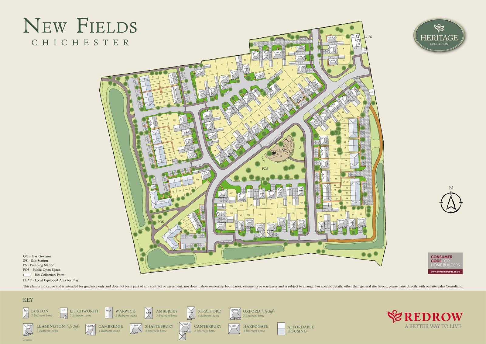 Plot  The Leamington Lifestyle, New Fields, Oving Road, Chichester, PO20 floorplans