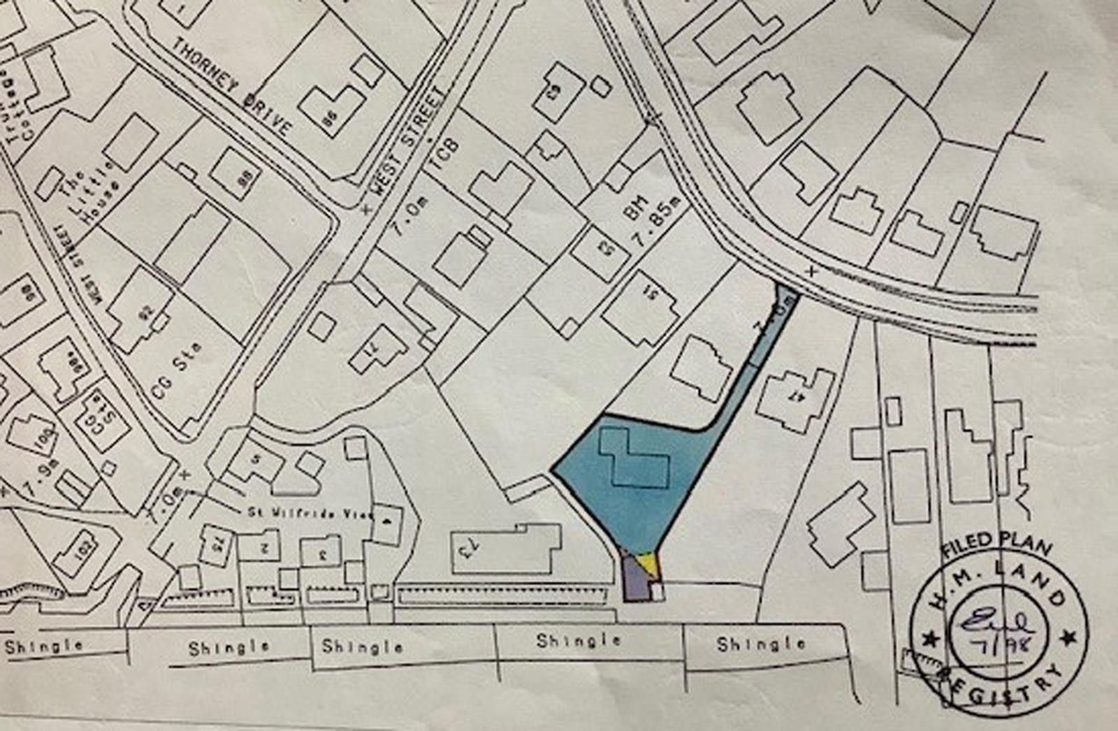 Title plan showing the plot/boundary