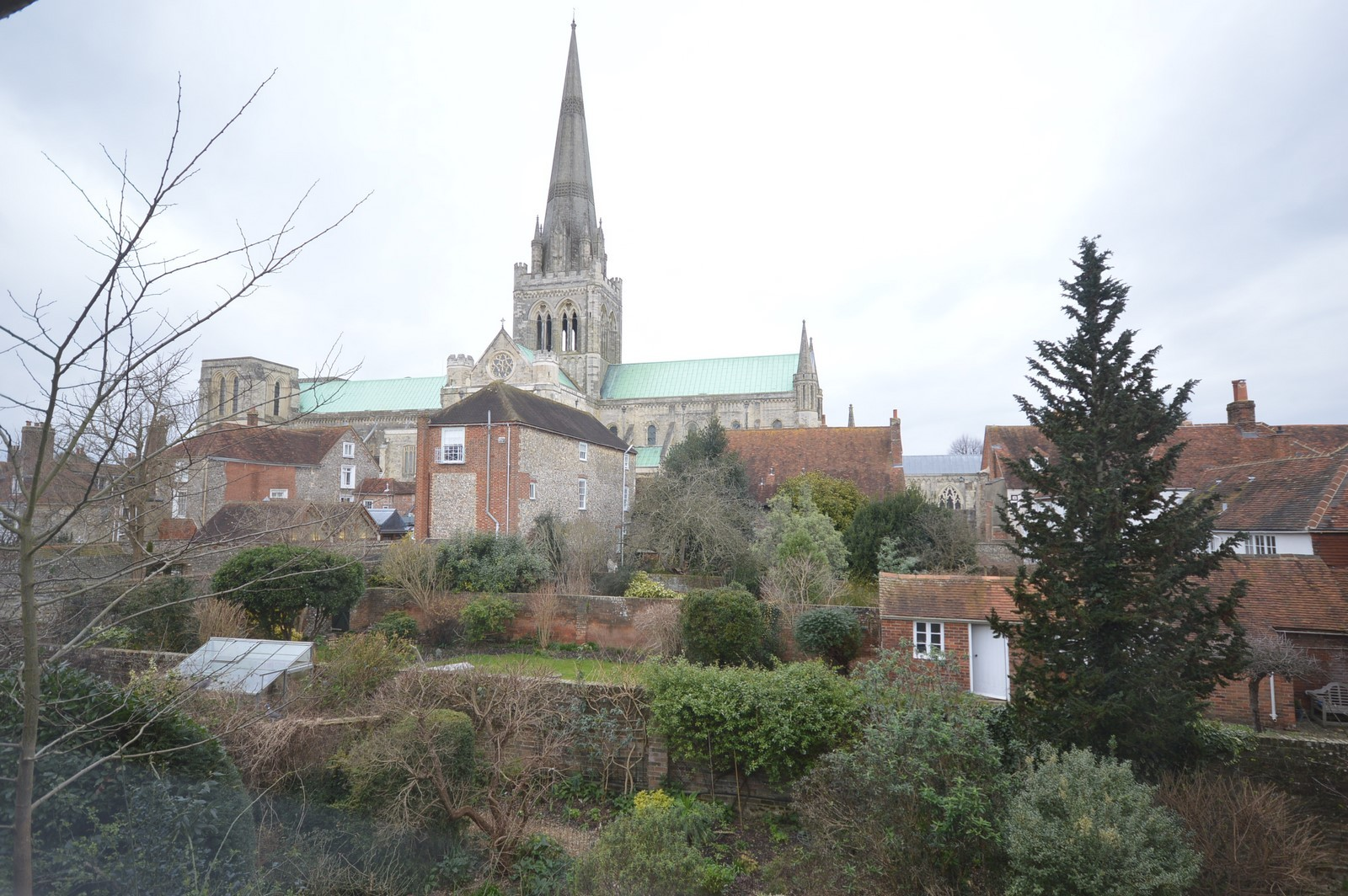 View from rear of property House to rent in Chichester City Centre